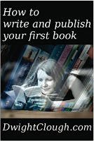 How to write and publish your first book.  width=