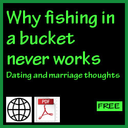 Why fishing in a bucket never works